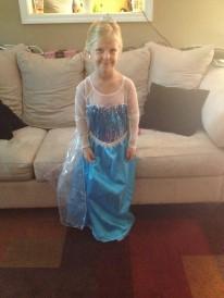 My beautiful Princess Adelynn/Elsa on her 5th birthday
